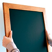 Woodframe Black Chalkboard