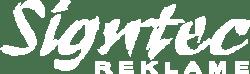 Signtec logo hvid